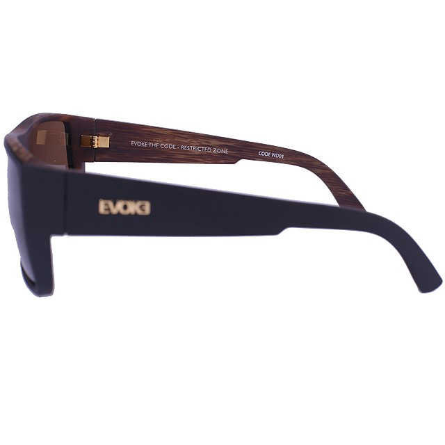 OCULOS EVOKE CODE BLACK WOOD GOLD BROWN TOTAL AEV1M01648