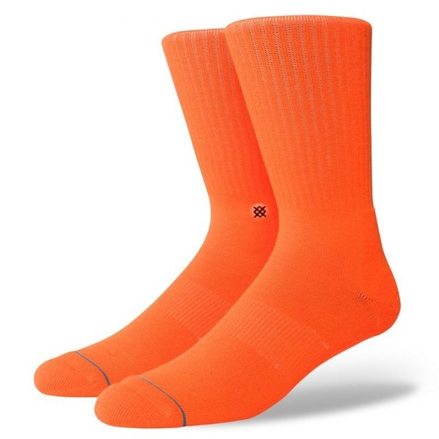 MEIA STANCE ICON ANTHEM FLUOR ORANGE LARANJA M556A18ICO