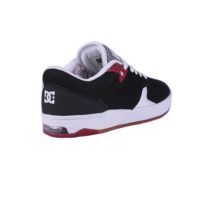 TENIS DC TIAGO S BLACK WHITE RED ADYS100386BW5