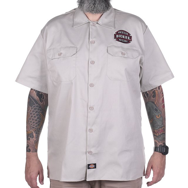 CAMISA DICKIES TWILL SOFT AREIA 12.1574.01
