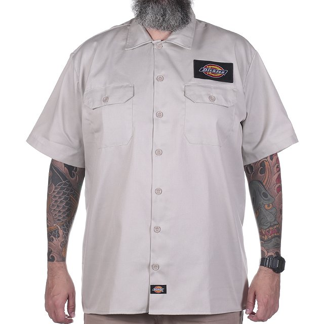 CAMISA DICKIES 1574 PATCH TWILL SOFT AREIA 12.1574.01