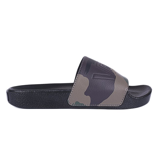 CHINELO VANS SLIDE ON PEACE LEAF CAMO BLACK VNBM33TYN3X