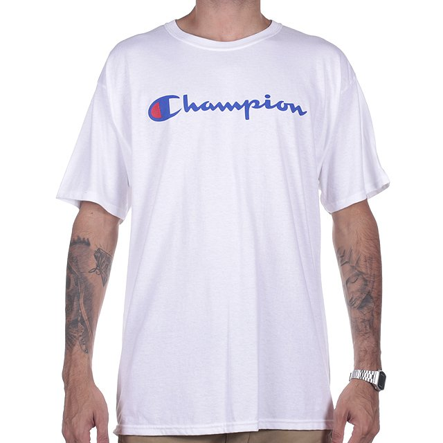CAMISETA CHAMPION LOGO MANUSCRITO WHITE GT280Y06794