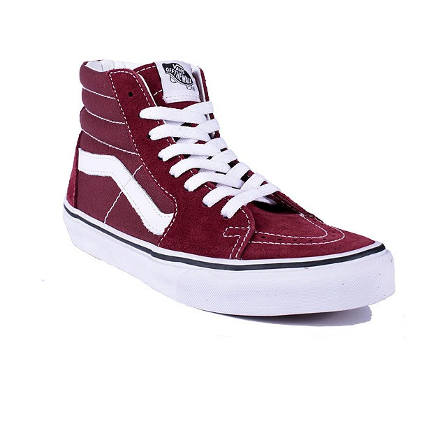 TENIS VANS SK8-HI MADDER BROWN TRUE WHITE VNBA38GEOVK