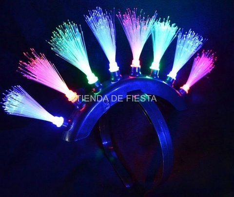Vincha fibra optica PUNK LED
