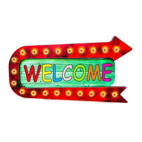 PLACA WELCOME-RELEVO-30x16 cm
