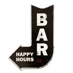PLACA SETA HAPPY HOURS  40x28 cm