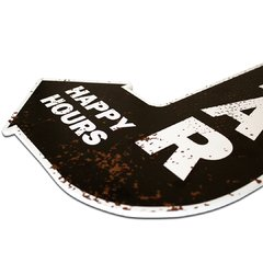 PLACA SETA HAPPY HOURS  40x28 cm - comprar online