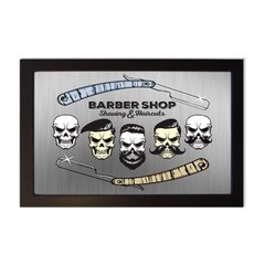 PLACA BARBER SHOP STYLE na internet
