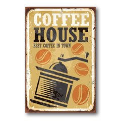 PLACA COFFEE HOUSE - comprar online