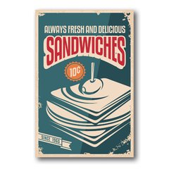 PLACA SANDWICHES SINCE - comprar online