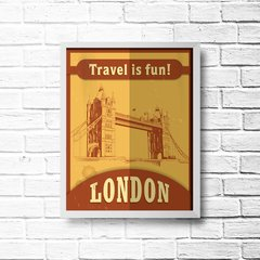 PLACA TRAVEL LONDON - Art Print Decorações