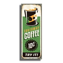 PLACA COFFEE TRY 40x15 cm - comprar online