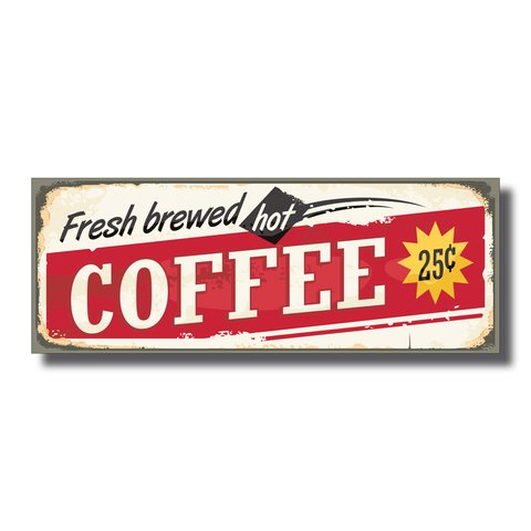 PLACA COFFEE 40x15 cm - comprar online