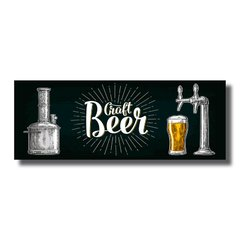 PLACA GRAFT BEER 40x15 cm - comprar online