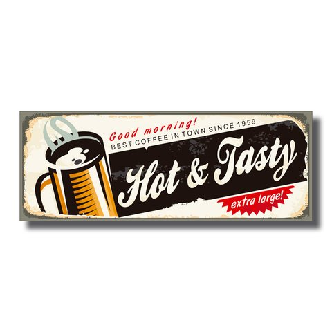 PLACA HOT & TASTY 40x15 cm - comprar online