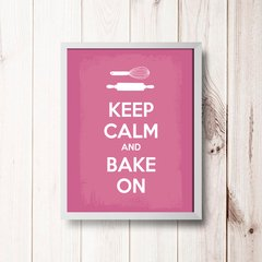 PLACA KEEP CALM AND BAKE ON na internet