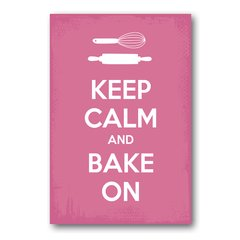 PLACA KEEP CALM AND BAKE ON - comprar online