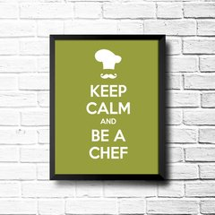 PLACA KEEP CALM AND BE A CHEF na internet