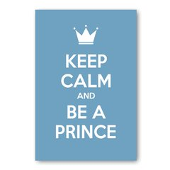 PLACA KEEP CALM AND BE A PRINCE