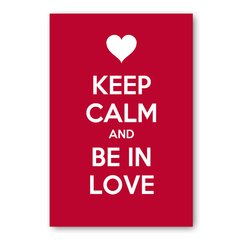 PLACA KEEP CALM AND BE IN LOVE