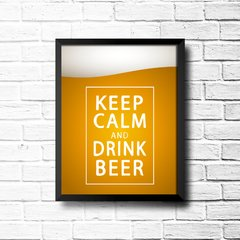 PLACA KEEP CALM AND DRINK BEER - comprar online