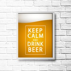 PLACA KEEP CALM AND DRINK BEER na internet
