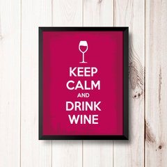 PLACA KEEP CALM AND DRINK WINE na internet