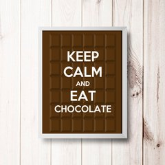 PLACA KEEP CALM AND EAT CHOCOLATE na internet