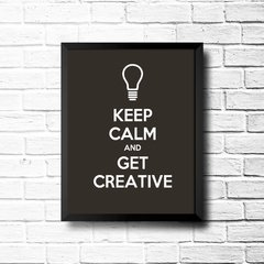 PLACA KEEP CALM AND GET CREATIVE na internet