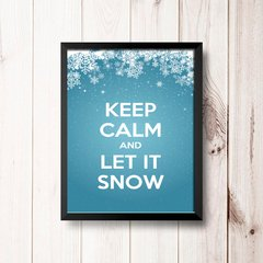 PLACA KEEP CALM AND LET IT SNOW na internet