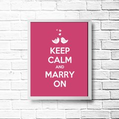 PLACA KEEP CALM AND MARRY ON - comprar online