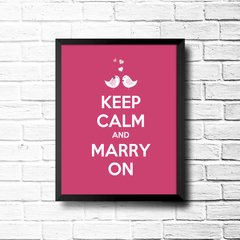 PLACA KEEP CALM AND MARRY ON na internet