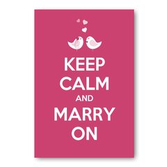 PLACA KEEP CALM AND MARRY ON