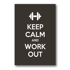 PLACA KEEP CALM AND WORK OUT