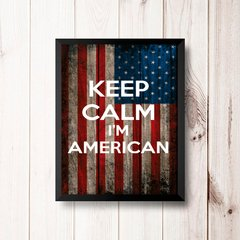 PLACA KEEP CALM I'M AMERICAN na internet