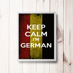 PLACA KEEP CALM I'M GERMAN - comprar online