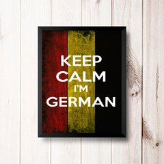 PLACA KEEP CALM I'M GERMAN na internet
