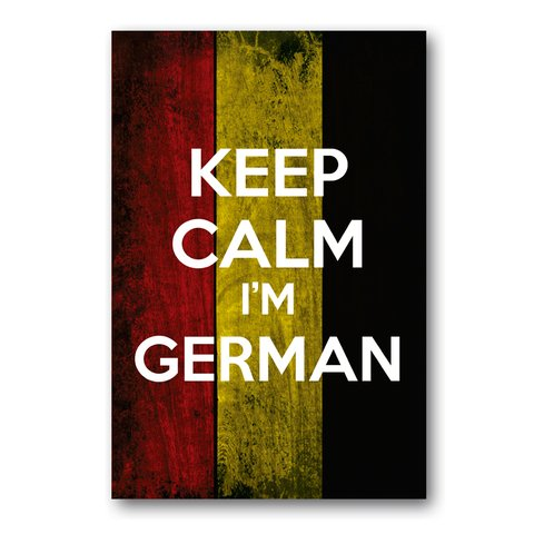 PLACA KEEP CALM I'M GERMAN