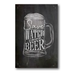 PLACA SAVE WATER BEER