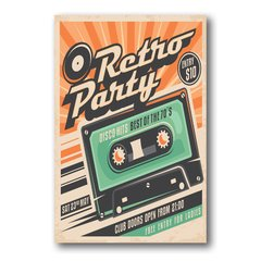 PLACA RETRO PARTY K7