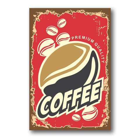 PLACA COFFEE RED