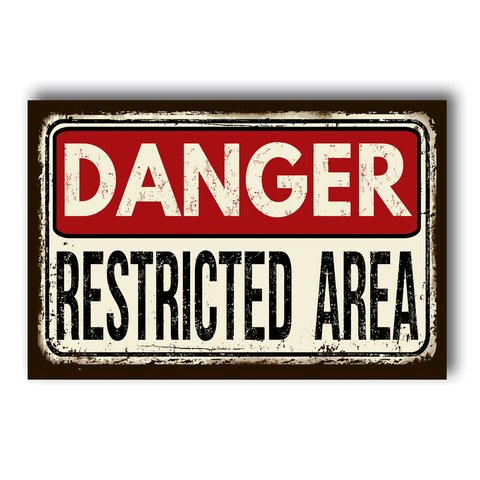 PLACA RESTRICTED AREA