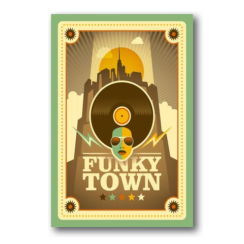 PLACA FUNKY TOWN