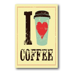 PLACA I LOVE COFFEE