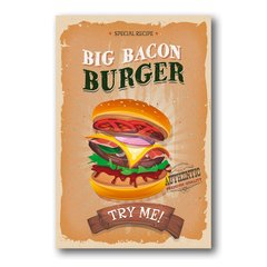 PLACA BIG BACON BURGER