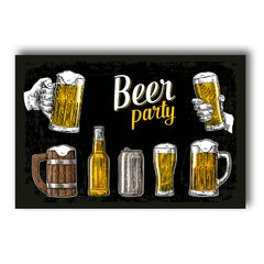 PLACA BEER PARTY BLACK