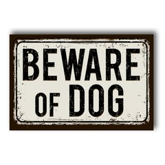 PLACA BEWARE OF DOG