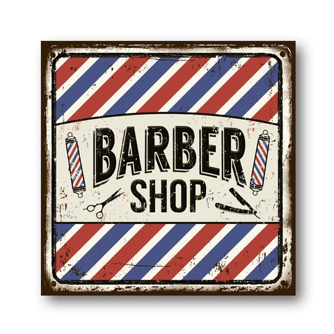 PLACA BARBER SHOP CUT