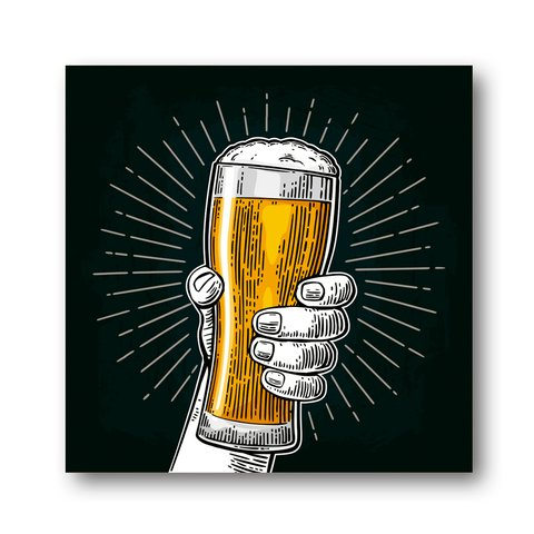 PLACA BEER HANDS